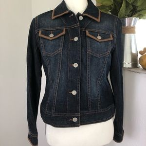 Liz Claiborne Womens Denim Jacket Petite Small